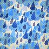 Seamless pattern with clouds and rain with dots Stock Image