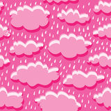 Seamless pattern of clouds and rain Royalty Free Stock Image