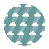 Seamless pattern with clouds and rain. Vector illustration Royalty Free Stock Photos