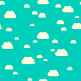 Seamless pattern clouds Royalty Free Stock Photos