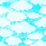 Seamless pattern with clouds. Vector, EPS 10 Royalty Free Stock Photos