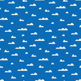 Seamless pattern with clouds vector illustration