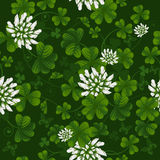 Seamless pattern with clover vector illustration