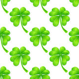Seamless pattern with clover Royalty Free Stock Images