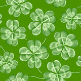Seamless pattern with clover Royalty Free Stock Photo