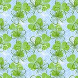 Seamless pattern with clover Royalty Free Stock Photography