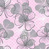 Seamless pattern with clover Stock Images