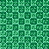 Seamless pattern with clover leaf Royalty Free Stock Photo