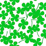 Seamless pattern with clover leaves Stock Photo