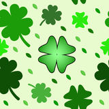 Seamless pattern with clover leaves Stock Image