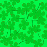 Seamless pattern with clover leaves Royalty Free Stock Photo