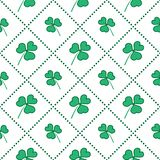 Seamless pattern with clover leaves. St. Patrick's Day. Design for banner and print royalty free illustration