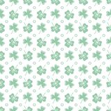 Seamless pattern. Clover leaves. St. Patrick\'s Day. Seamless pattern with clover leaves. Shamrock background. St. Patrick\'s Day. Design for banner and print royalty free illustration
