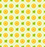 Seamless Pattern with Clovers and Golden Coins for St. Patricks. Illustration Seamless Pattern with Clovers and Golden Coins for St. Patricks Day, Cute Royalty Free Illustration