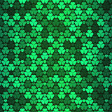 Seamless pattern with clovers Royalty Free Stock Images