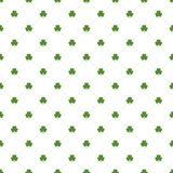 Seamless pattern with clovers leaves and stripes Royalty Free Stock Photo