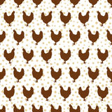 Seamless pattern with cocks Royalty Free Stock Images