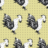 Seamless pattern with cocks Royalty Free Stock Photography