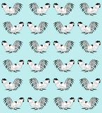 Seamless pattern with cocks Royalty Free Stock Image
