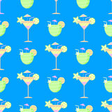 Seamless pattern. Cocktail fiesta festive background vector illustration
