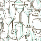 Seamless pattern of cocktail glasses Stock Photo