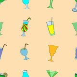 Seamless pattern of cocktails Royalty Free Stock Images