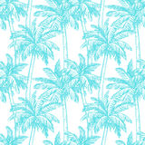 Seamless pattern with coconut palm trees Royalty Free Stock Photo