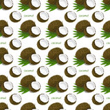 Seamless pattern with coconuts Royalty Free Stock Image