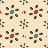 Seamless pattern with coffee Royalty Free Stock Photo