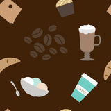 Seamless pattern of coffee Stock Images