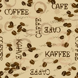 Seamless pattern of coffee beans Stock Photos