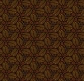 Seamless pattern with coffee beans Royalty Free Stock Images