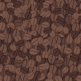 Seamless pattern with coffee beans. Seamless pattern with brown coffee beans. Vector texture Royalty Free Stock Photo
