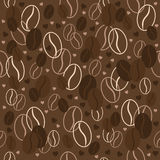 Seamless pattern with coffee beans. Vector illustration. Background. Stock Photos