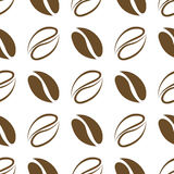 Seamless pattern coffee beans Stock Photography