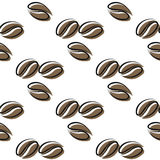 Seamless pattern coffee beans Royalty Free Stock Photo