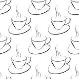 Seamless pattern with coffee cup Royalty Free Stock Photos