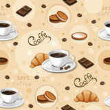 Seamless pattern with coffee cups. Stock Photos