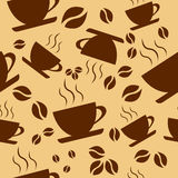 Seamless pattern coffee cups Royalty Free Stock Photos