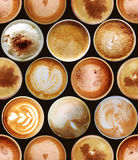 Seamless pattern with coffee cups Royalty Free Stock Image
