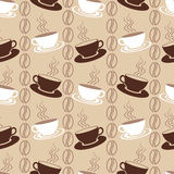Seamless pattern with coffee cups Stock Images
