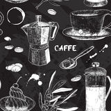 Seamless pattern with coffee design Stock Images