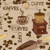 Seamless pattern of coffee Royalty Free Stock Photography