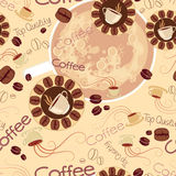 Seamless pattern of coffee logos Stock Photography