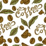 Coffee pattern Royalty Free Stock Photography