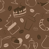Seamless pattern with coffee signs Stock Image