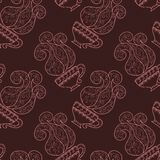 Seamless pattern with coffee Stock Photography
