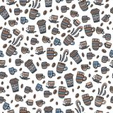 Seamless pattern with coffee. Vector illustration. vector illustration