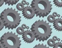 Seamless pattern cogwheel in 3D. Vector Stock Photo