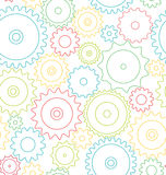 Seamless pattern cogwheels Stock Images